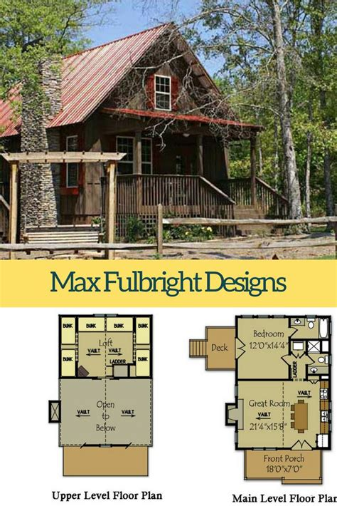 small cabin plans with loft and porch cottage house plans