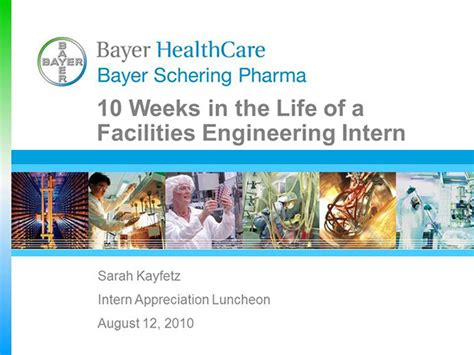 Bayer Facilities Engineering Internship Presentation On Behance Internship Presentation Template