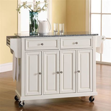crosley furniture kitchen island shop crosley furniture white craftsman kitchen island at
