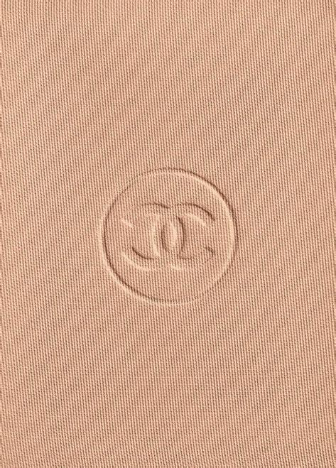 chanel logo embossed  makeup compact coco