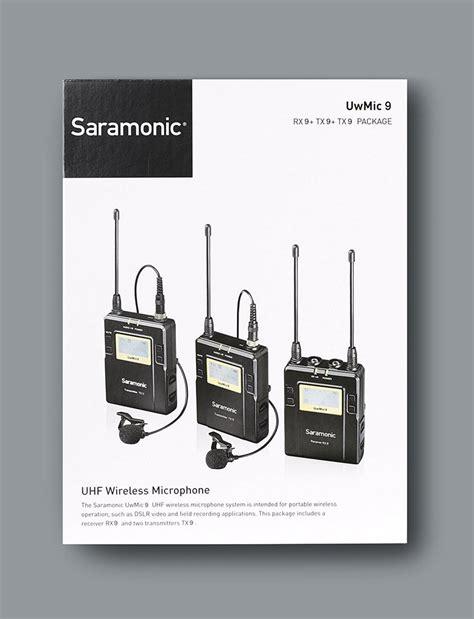 Uwmic9 Tx9rx9 saramonic uwmic9 96 ch digital uhf wireless lavalier microphone system saramonic usa