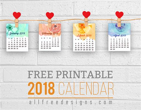 Pictures For Office Walls by Printable Mini Calendars For 2018 To Download Free