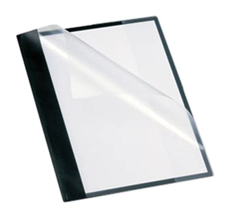 oxford 57727 clear front report cover with pocket and cd
