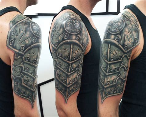 armor tattoo sleeve 15 sensational shoulder armor ideas