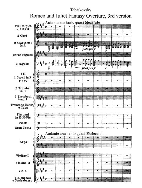 romeo and juliet theme by tchaikovsky romeo and juliet overture fantasia tchaikovsky pyotr