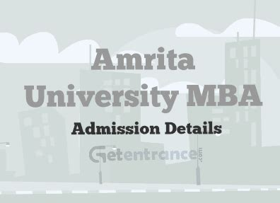 National Mba Admission 2016 17 by Amrita Mba Admission 2016 Getentrance