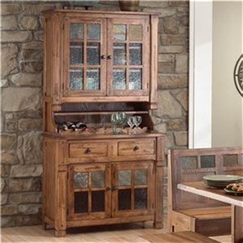 sunny designs 2416ro sedona 77 h buffet and hutch in sunny designs sedona counter height extension table w