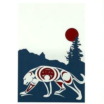 cool mountain lion tattoo design