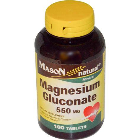 Vitamin Magnesium Vitamins Magnesium Gluconate 550 Mg 100 Tablets