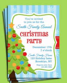Christmas Party Invitation Printable Christmas Tree in Snow