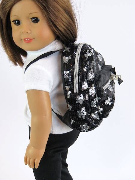 black doll boutique black sequin backpack american doll the doll boutique