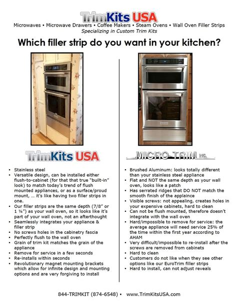 kitchen cabinet filler strips wall oven filler strips trimkits usa