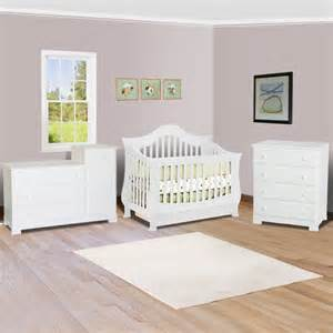Baby Furniture Convertible Crib Sets Ashbury Sleigh Convertible Crib In White Midcentury Cribs Other Metro By Simply Baby