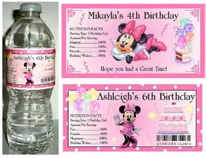20 minnie mouse birthday party favors water bottle labels ebay
