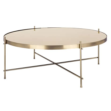 Table Basse Ronde Blanche 3272 by Table Basse Ronde Valdo Or L Achetez Nos Tables Basses