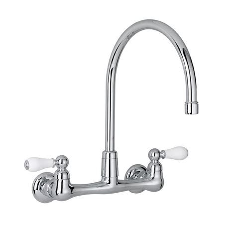 Peerless Wall Mount Kitchen Faucet Peerless Choice 2 Handle Wall Mount Kitchen Faucet In Chrome P299305lf The Home Depot