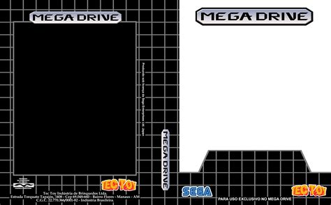 genesis template sega megadrive box template black brazil by