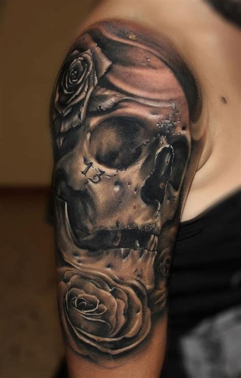 skull and rose tattoo for men skull tattoos for top 30 skull designs