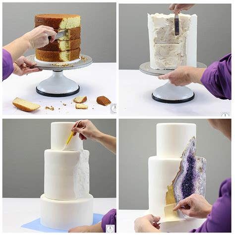 home design gold tutorial how to make a geode cake