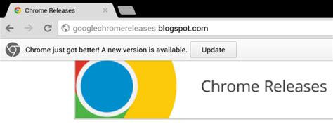 chrome updates for android chrome for android shows update notifications