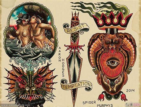 精美的old school风格纹身图案手稿素材第5页
