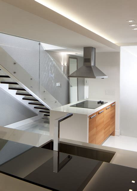Inter Stairs And Kitchen Design Stairs Kitchen Island Modern Staircase Miami By Rs3 Designs
