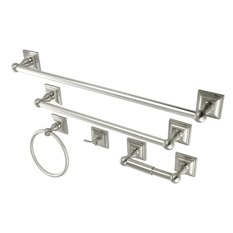 satin nickel bathroom accessories kingston brass bahk3212478sn bathroom accessory combo