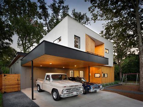 Modern Car Port by Modern Home With Carport Built Around Live Oak Tree Matt