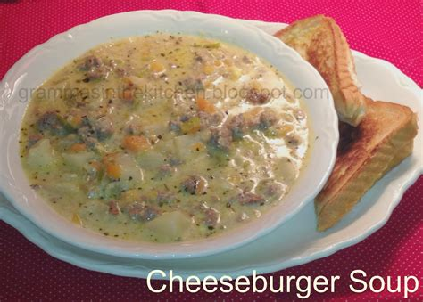 taste of home cheeseburger soup gramma s in the kitchen cheeseburger soup
