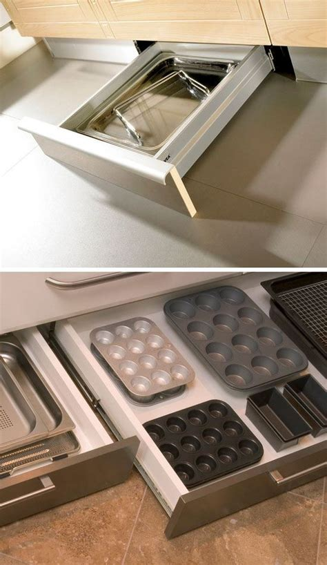 superb Kitchen Sink Storage Trays #3: Under-Cabinet-Drawers-DIY-Kitchen-Storage-Ideas-for-Small-Spaces-Click-for-Tutorial-DIY-Kitchen-Organization-Ideas.jpg