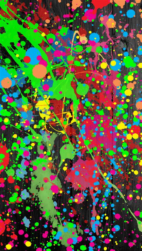 paint splatter iphone 5 wallpaper 640x1136