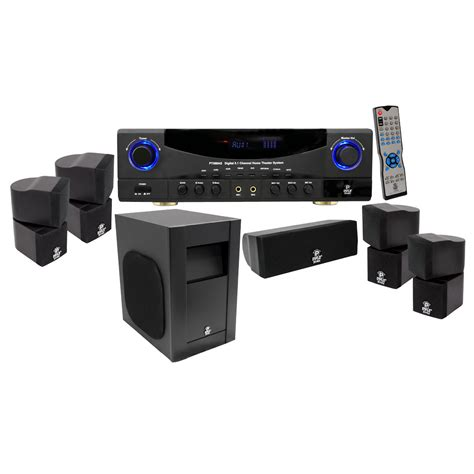 new pyle pt598as 5 1 channel 350w home theater am fm