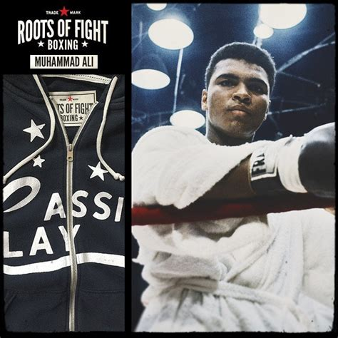 Hoodie Zipper Muhammad Ali The Greatest Hitam roots of fight cassius clay zip up hoodie