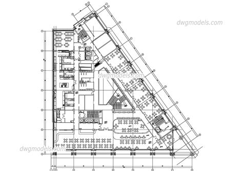 hotel floor plan dwg public area of the hotel dwg free cad blocks download