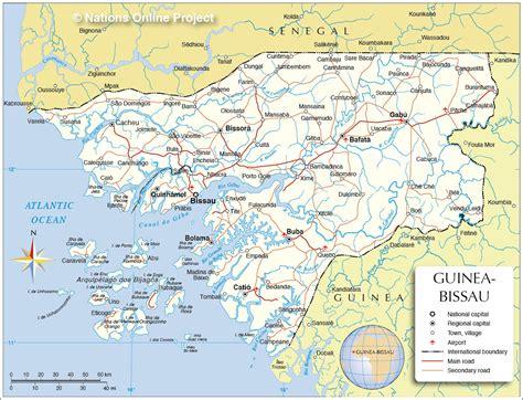 Guinea Bissau Political Map   map of bissau 187 travel