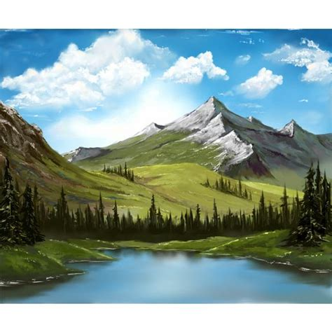 bob ross painting sky bobs lakes and landscapes on