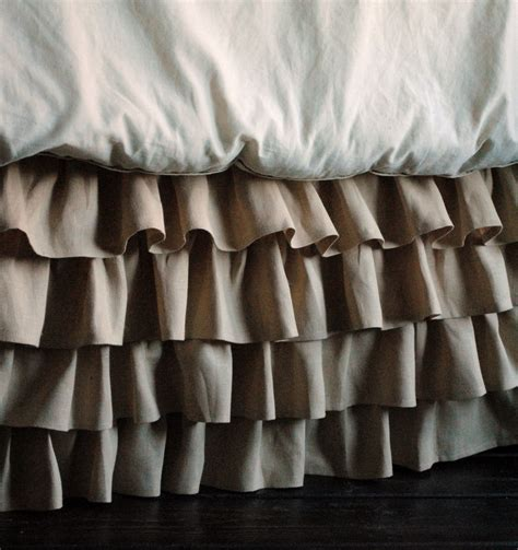 full bed skirt ruffled linen bed skirt twin and full by paulaanderika on etsy