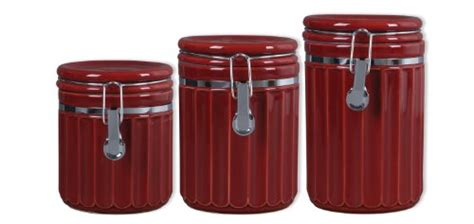 burgundy kitchen canisters canisters gibson montcrest 3 stoneware canister set