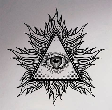 illuminati eye pyramid aliexpress buy all seeing eye wall vinyl decal