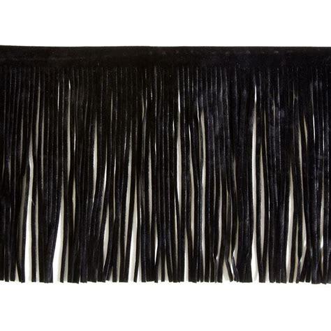 upholstery fringe trim 6 faux suede fringe trim black discount designer