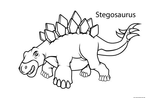 Printable Stegosaurus Dinosaur Coloring Pages For Kidsfree Stegosaurus Coloring Page