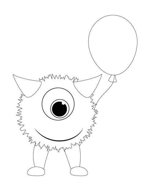 monster birthday coloring page cute monster coloring pages coloring home