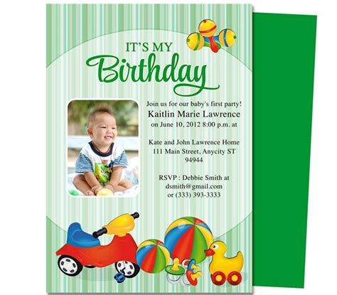 baby 1st birthday invitation card template 13 best images about printable 1st birthday
