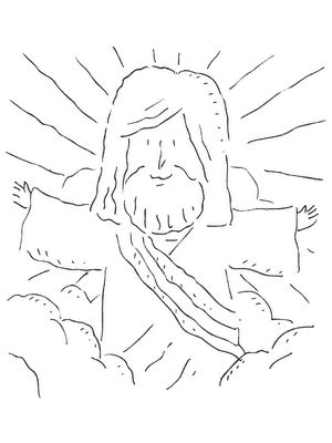 imagenes de jesus para dibujar faciles catequesis para colorear