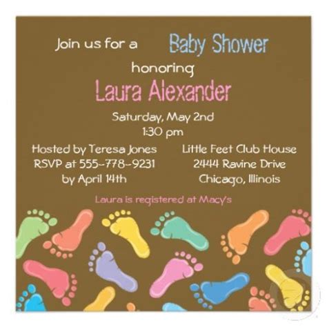 Footprints Baby Shower Theme by 17 Best Images About Baby Shower Invitation Footprint