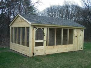 Backyard Dog Enclosures Atlantic Shed High Quality Custom Wood Storage Buildings