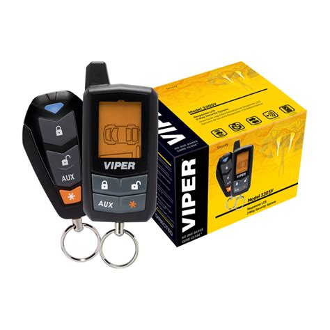 viper 3305v lcd 2 way car alarm security system sound in