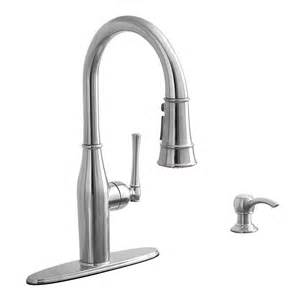 Aquasource Kitchen Faucet Shop Aquasource Stainless Steel 1 Handle Pull Kitchen Faucet At Lowes