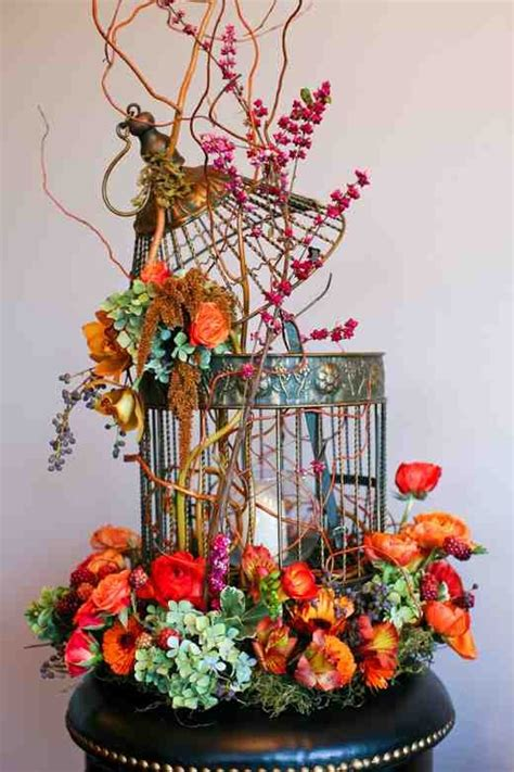 bird cage centerpiece decor home pinterest