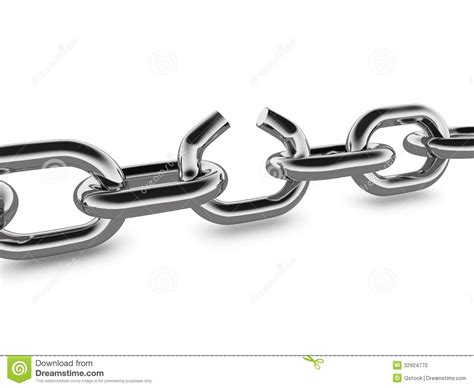 rotas cadenas bulldog broken metal chain concept graphic stock illustration